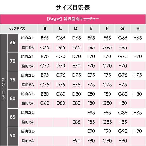 贅沢脇肉キャッチャーサイズ表