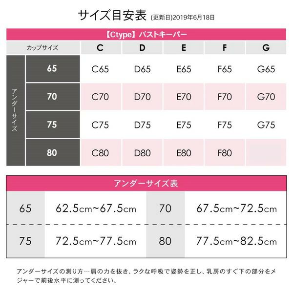 バストキーパーサイズ表