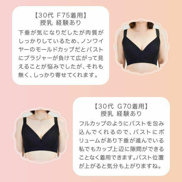 脇肉キャッチャーノンワイヤー アンダーサイズ表